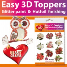 Hearty Crafts Easy 3D Toppers